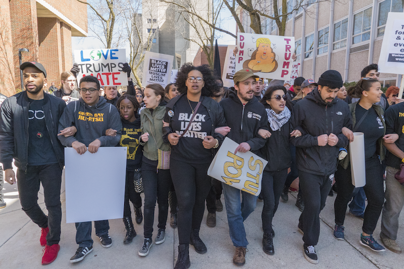 Different student groups on UWM's campus came together to turn back Donald Trump's hate (photo credit: Joe Brusky).