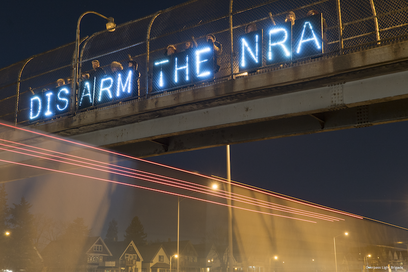 Our thursday night message for the nra in milwaukee photo credit joe brusky